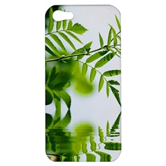 Leafs With Waterreflection Apple Iphone 5 Hardshell Case by Siebenhuehner
