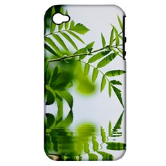 Leafs With Waterreflection Apple Iphone 4/4s Hardshell Case (pc+silicone) by Siebenhuehner
