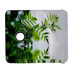 Leafs With Waterreflection Samsung Galaxy S  Iii Flip 360 Case by Siebenhuehner