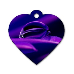 Waterdrop Dog Tag Heart (two Sided) by Siebenhuehner