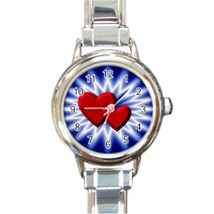 Love Round Italian Charm Watch by Siebenhuehner