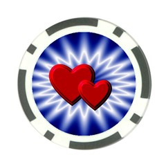 Love Poker Chip (10 Pack) by Siebenhuehner