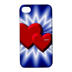 Love Apple Iphone 4/4s Hardshell Case With Stand by Siebenhuehner