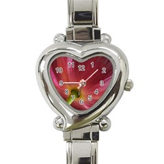Poppy Heart Italian Charm Watch  by Siebenhuehner