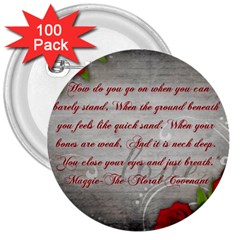 Maggie s Quote 3  Button (100 Pack)