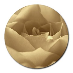 Rose  8  Mouse Pad (round) by Siebenhuehner