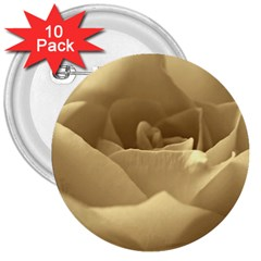 Rose  3  Button (10 Pack) by Siebenhuehner