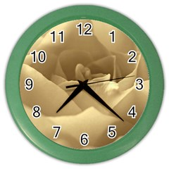 Rose  Wall Clock (color) by Siebenhuehner