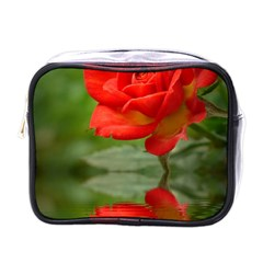 Rose Mini Travel Toiletry Bag (one Side) by Siebenhuehner