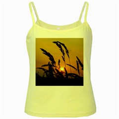 Sunset Yellow Spaghetti Tank by Siebenhuehner