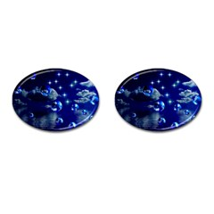 Sky Cufflinks (oval) by Siebenhuehner
