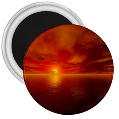 Sunset 3  Button Magnet by Siebenhuehner
