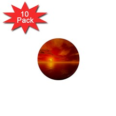 Sunset 1  Mini Button Magnet (10 Pack) by Siebenhuehner