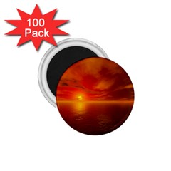 Sunset 1 75  Button Magnet (100 Pack) by Siebenhuehner
