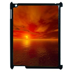 Sunset Apple Ipad 2 Case (black) by Siebenhuehner