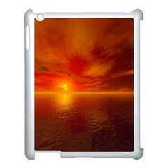 Sunset Apple Ipad 3/4 Case (white) by Siebenhuehner