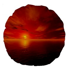 Sunset 18  Premium Round Cushion  by Siebenhuehner