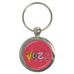 Jazz Key Chain (round) by PaolAllen