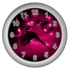 Sweet Dreams  Wall Clock (silver) by Siebenhuehner