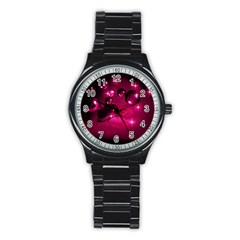 Sweet Dreams  Sport Metal Watch (black) by Siebenhuehner