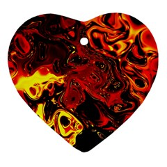 Fire Heart Ornament by Siebenhuehner
