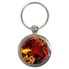 Fire Key Chain (round) by Siebenhuehner