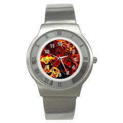 Fire Stainless Steel Watch (unisex) by Siebenhuehner