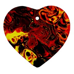 Fire Heart Ornament (two Sides) by Siebenhuehner