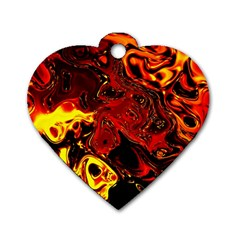 Fire Dog Tag Heart (one Sided)  by Siebenhuehner