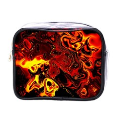 Fire Mini Travel Toiletry Bag (one Side) by Siebenhuehner