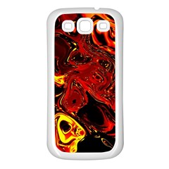 Fire Samsung Galaxy S3 Back Case (white) by Siebenhuehner