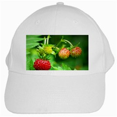 Strawberry  White Baseball Cap by Siebenhuehner