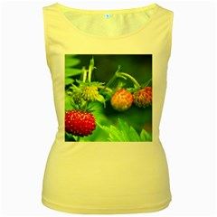 Strawberry  Womens  Tank Top (yellow) by Siebenhuehner