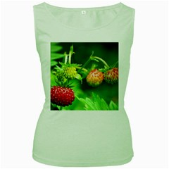 Strawberry  Womens  Tank Top (green) by Siebenhuehner