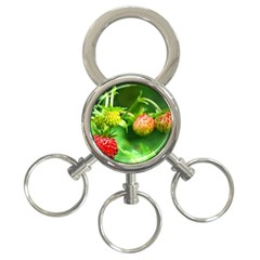 Strawberry  3 Ring Key Chain by Siebenhuehner