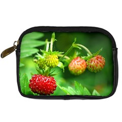 Strawberry  Digital Camera Leather Case by Siebenhuehner