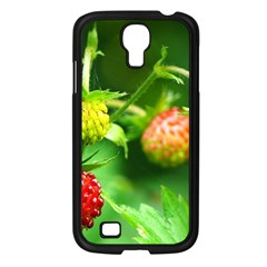 Strawberry  Samsung Galaxy S4 I9500/ I9505 Case (black) by Siebenhuehner