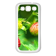 Strawberry  Samsung Galaxy S3 Back Case (white) by Siebenhuehner