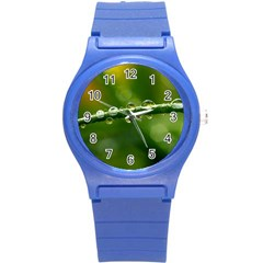 Waterdrops Plastic Sport Watch (small) by Siebenhuehner