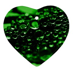 Waterdrops Heart Ornament (two Sides) by Siebenhuehner