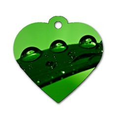 Waterdrops Dog Tag Heart (two Sided) by Siebenhuehner