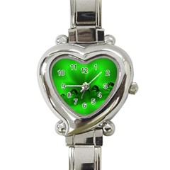 Drops Heart Italian Charm Watch  by Siebenhuehner