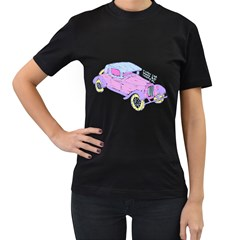 If Classic Car Wanna Be Colorful Womens' T Shirt (black)