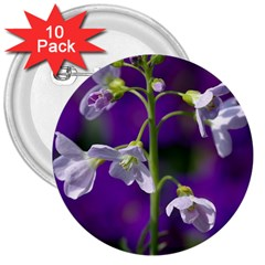 Cuckoo Flower 3  Button (10 Pack) by Siebenhuehner