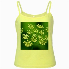 Queen Anne s Lace Yellow Spaghetti Tank by Siebenhuehner