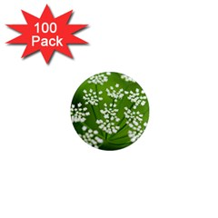Queen Anne s Lace 1  Mini Button Magnet (100 Pack) by Siebenhuehner