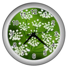 Queen Anne s Lace Wall Clock (silver) by Siebenhuehner