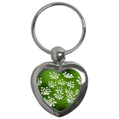 Queen Anne s Lace Key Chain (heart) by Siebenhuehner
