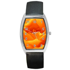 Rose Tonneau Leather Watch by Siebenhuehner