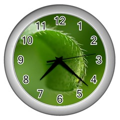 Leaf Wall Clock (silver) by Siebenhuehner
